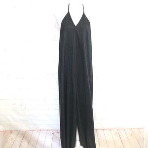 Zara W/B Collection Shiny Black Jumpsuit